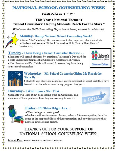 Best School Counseling Week Images On   National