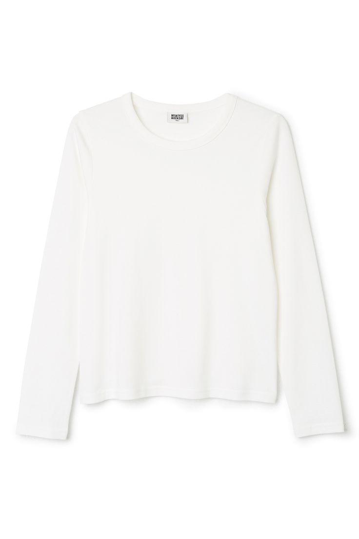 Weekday image 9 of Kate Long Sleeve T-Shirt in White