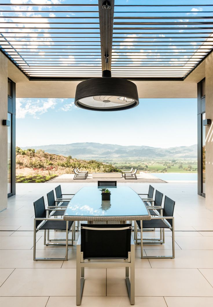 This home has views over the vineyards of California's Napa Valley from every room