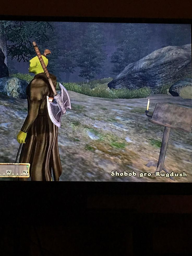 I can't help but laugh at some of the orc names in oblivion.