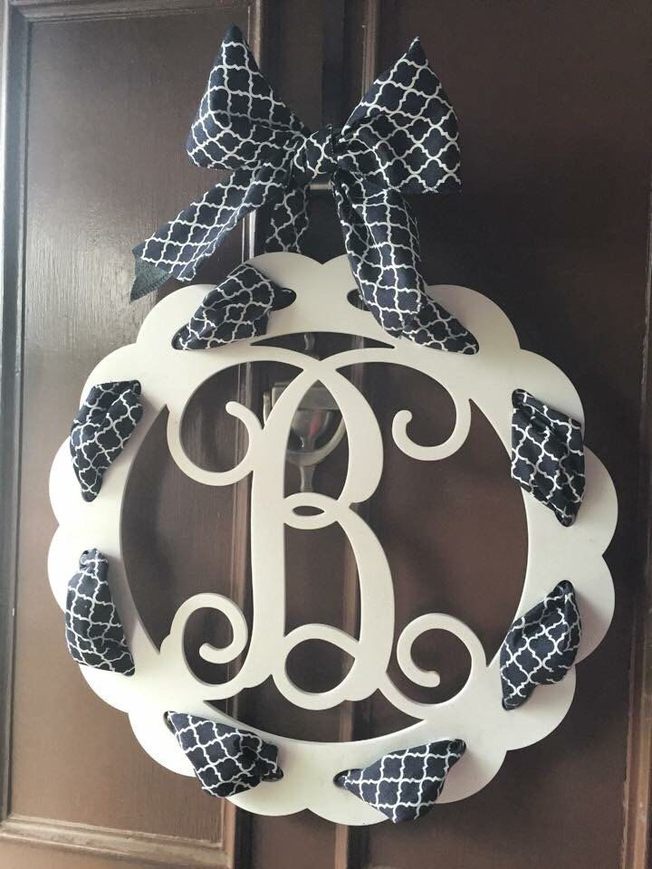 A personal favorite from my Etsy shop https://www.etsy.com/listing/232155122/single-initial-white-wooden-monogram