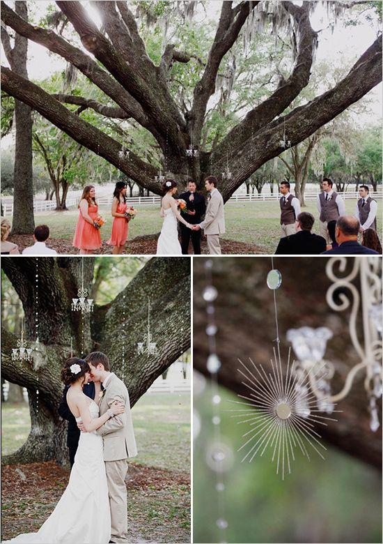 Vintage Country Wedding Ideas   Florida Vintage Garden Shabby Chic Wedding