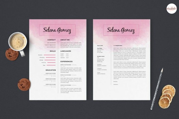 CV template , cover letter template  By Emaholic Templates