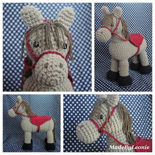 Crocheted Horse. Free English pattern at the link for this little horse