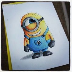 Minion tattoo idea. Cute and smiling but you jyst know hes up to know good! Just like Wy
