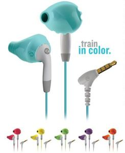 Yurbuds--best earbuds I have ever owned.  Love these and they do NOT fall out!