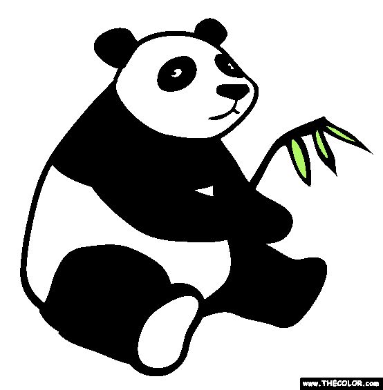 free giant panda coloring pages - photo#36