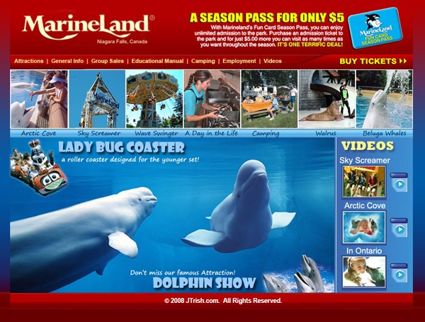 Marineland  Niagara Falls, Canada  I want to go back soooo bad!! Love it there!
