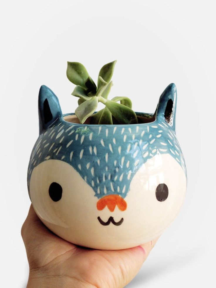Vaso Artesanal Gato Azul | Collector55 - Collector55 mobile