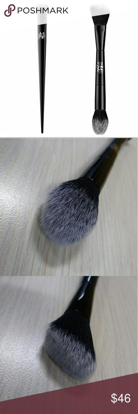 KAT VON D Bundle KAT VON D Lock-It Edge Concealer Brush #40 + Kat Von D Shade + Light Face Contour Brush  Concealer brush = $24 + Contour brush = $34 = $58  My price = $46! :) Kat Von D Makeup Brushes & Tools