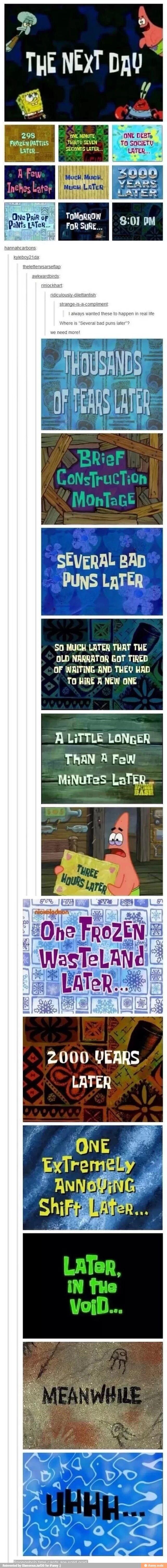 Spongebob transition slides