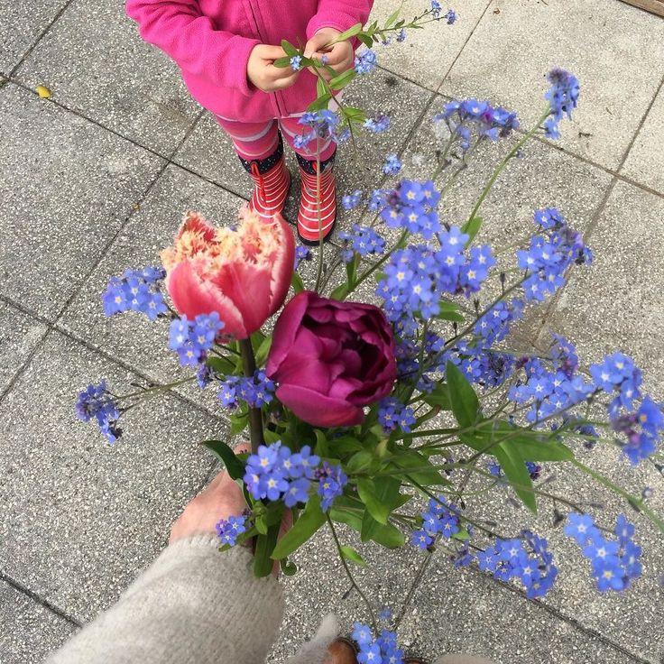 Frühlingssträußchen  #vergissmeinnicht #tulpen #tulip ein freier Tag ist ein guter Tag! – Gina Fiedler