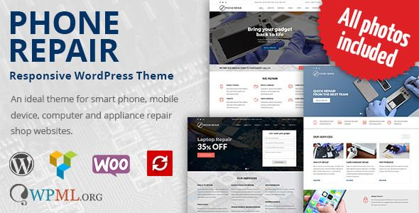 578470bdebd9d3 Description Phone Repair WordPress Theme was created for entrepreneurs  working in the field of electronics repair services, and is ideal for smart  phone, ...