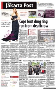 The Jakarta Post 1/29/2013 - Cops bust drug ring run from death row