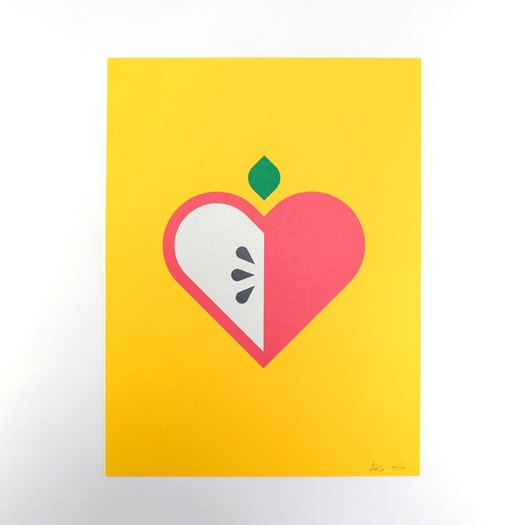 """Image of Allan Peters """"Apple"""" Poster"""