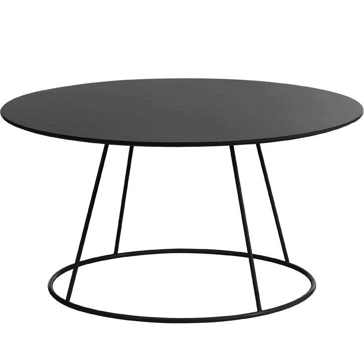 Breeze bord 80 cm, slät skiva, svart i gruppen Möbler / Bord / Soffbord hos RUM21.se (102059)