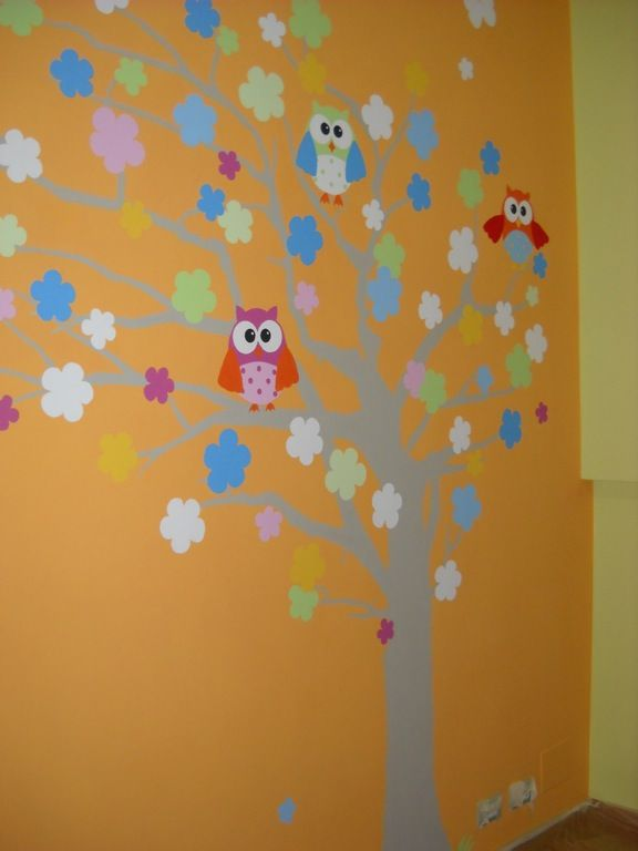 Cameretta bambini, wall decoration, children's room, decorazioni a mano libera