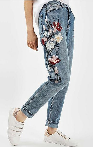 #jeans #denim #embroidery #borduur #floral #bloemen #trend #fashion #Wehkamp #Topshop