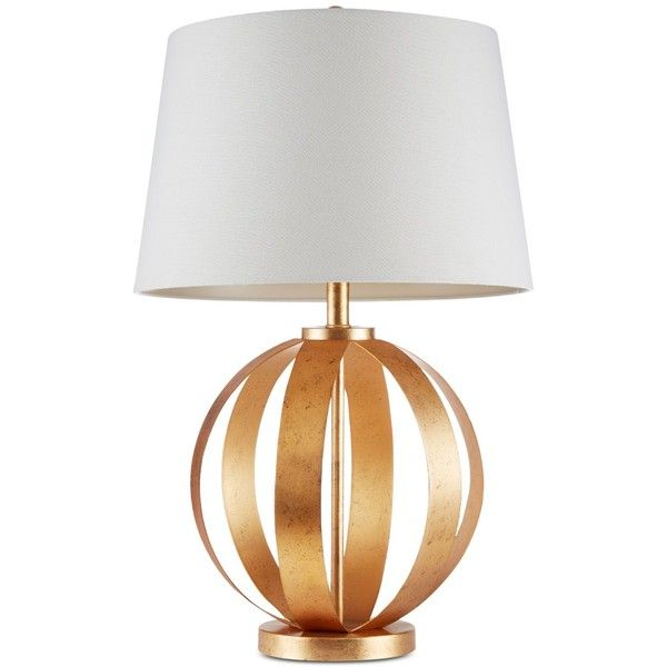 Ink Ivy Warren Table Lamp 370 Liked On Polyvore Featuring Home Lighting Table Lamps Gold Sphere Lamp Orb Lighting Orb Table Lamp Orb Lamp And Gold T