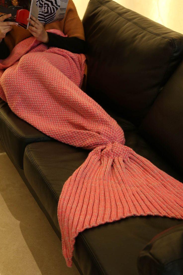Knitted Sleep Cell Mermaid Blanket