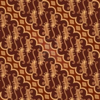 Seamless Batik Parang Barong Pattern