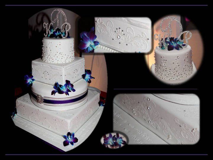 blue orchid wedding cake topper 28 best images about royal blue and white wedding cake 11998