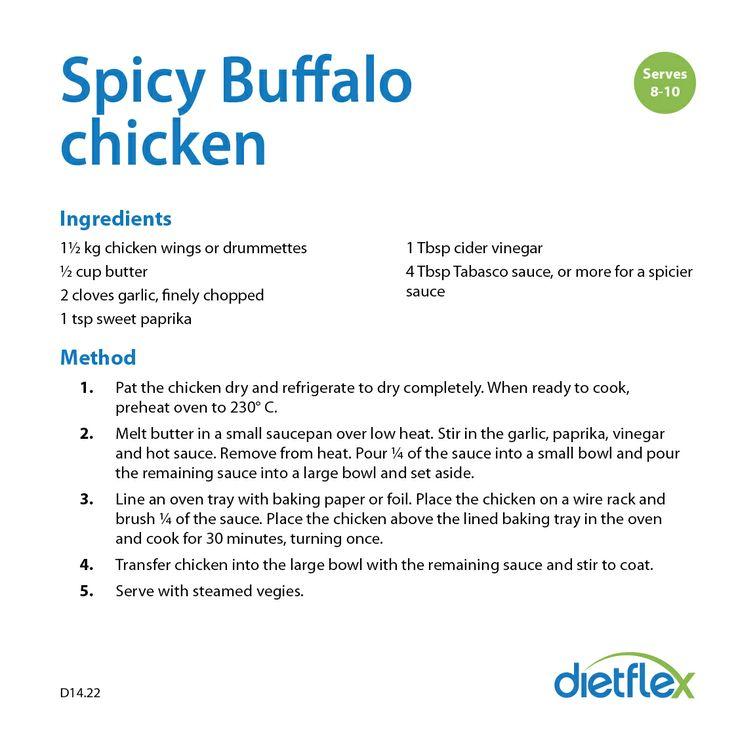 Spicy Buffalo chicken #healthyrecipes #dietflex