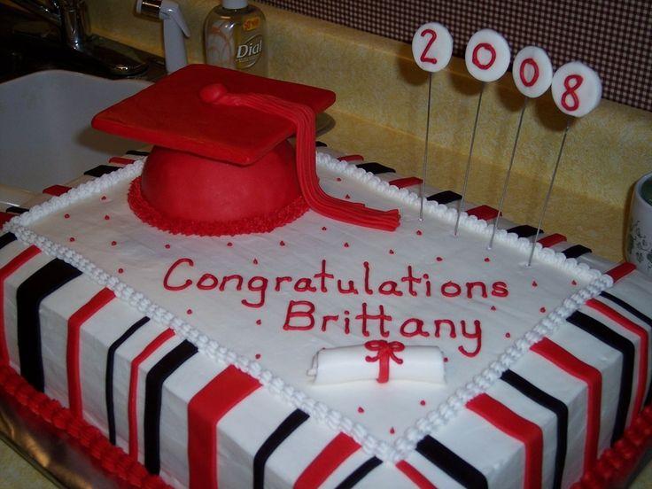 Black Amp White Grad Cake Cake Pinterest Red And White