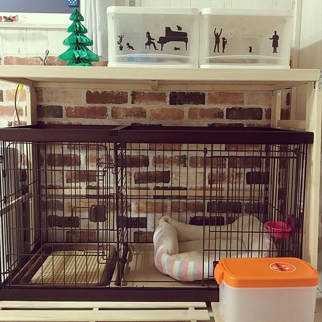 棚 ケージ周り 犬と暮らす家 リビング Diy 棚作り などのインテリア実例 2019 01 14 17 31 22 Roomclip ルームクリップ 犬と暮らす家 インテリア インテリア 実例