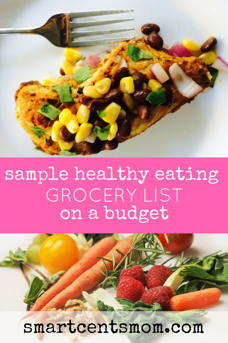 frugal healthy grocery list | healthy sample grocery list | healthy grocery shopping on a budget | frugal healthy grocery shopping via @https://www.pinterest.com/smartcents/
