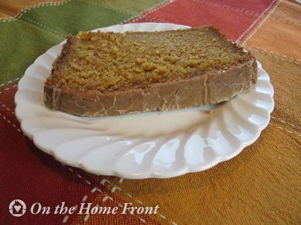 Spiced Pumpkin Loaf with Cinnamon Brown Sugar Glaze