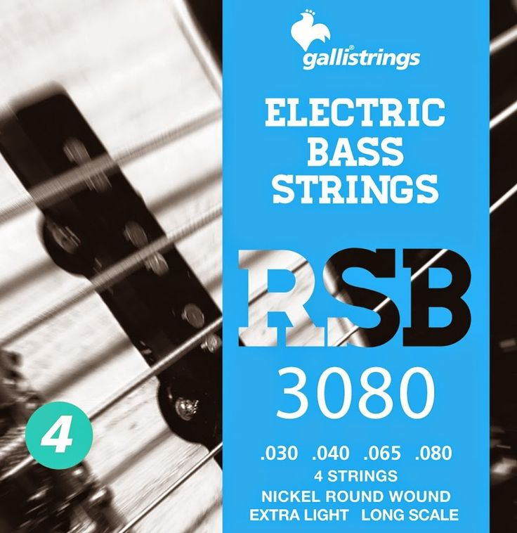 RSB 3080 4 strings nickel round wound - extra light .030 -.040 -.065 -.080 RSB A nickel wrapped hexagonal core with a rough surface for those looking for a sparkling timbre, with a metallic sound, and long lasting. Gallistrings delivers the freshest strings stright from our facility to your instrument!