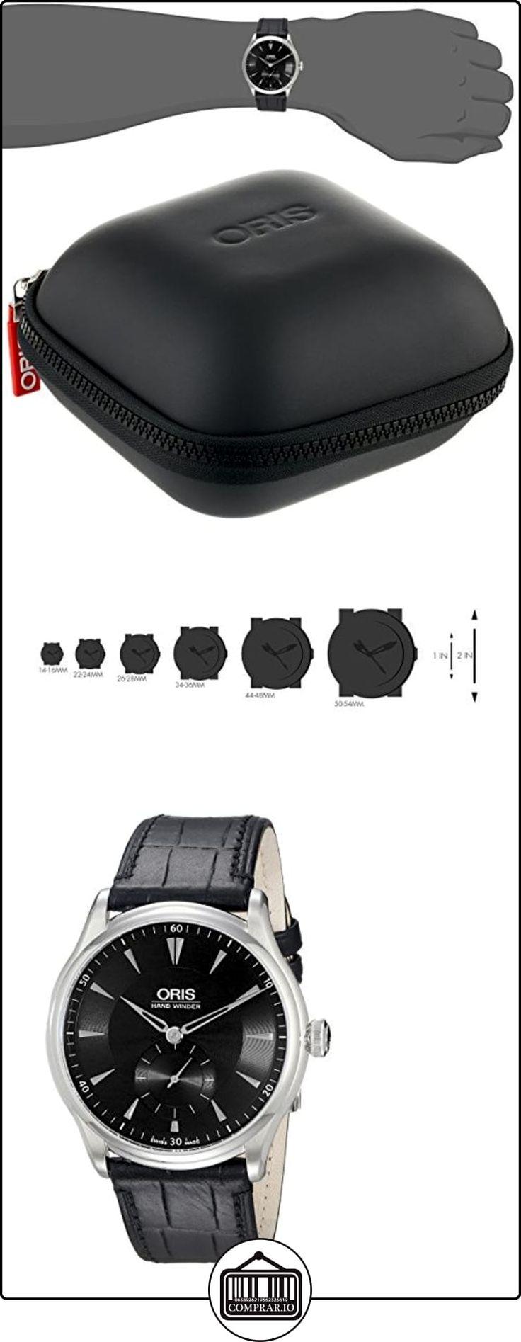 Es automático de las mujeres de color negro con textura con esfera de color negro de cuero genuino  ✿ Relojes para mujer - (Lujo) ✿