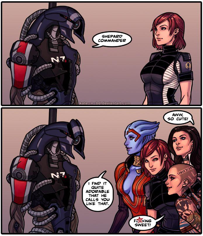 Mass Effect - Legion, FemShep, Miranda, Jack & Samara - the feels by kate-n-bd