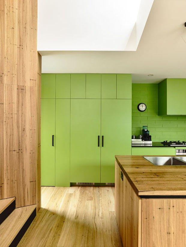 Décor do dia: cozinha espaçosa em tons de verde
