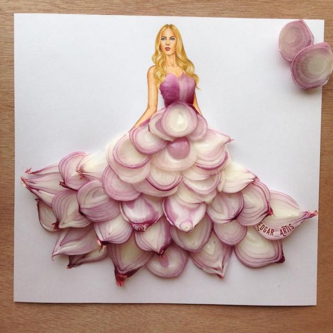 Самые необычные фэшн иллюстрации из цветов, ягод и даже нутеллы