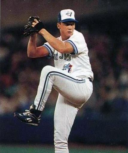 Toronto Blue Jays Photo (1992) - David Cone on the mound wearing the Toronto Blue Jays home uniform in 1992