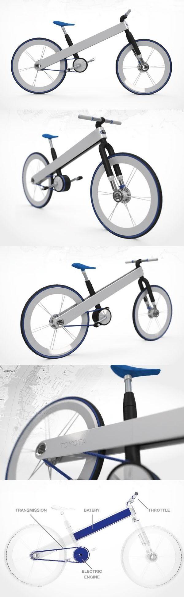 "Designer Francisco ""Ulla's"" concept for a Toyota brand hybrid bike"