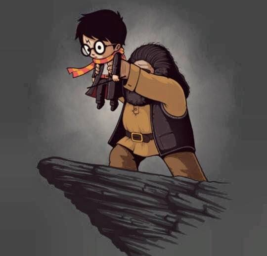 """""""Yer a lion, Harry."""" 