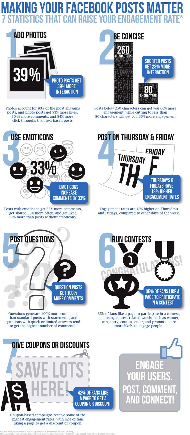 7 Statistics That Can Raise Your #Facebook Engagement Rate #socialmedia #infographic' lolsmg.com