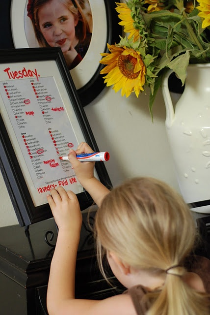 a blog entry on chore lists for kids- some good ideas.
