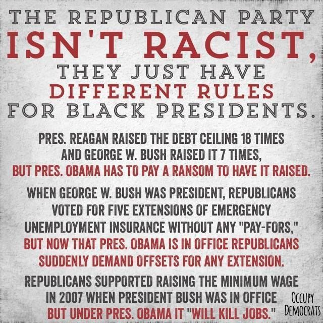 How incompetent must you be to base all of your decisions on the shade of someone's skin?republican racism is disgusting and its implementation is shear idiocy. Why would anyone vote for a republican?