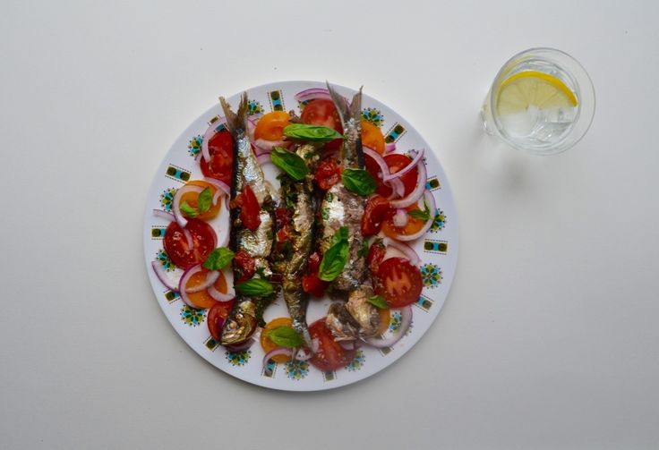 Grilled Sardines with Capers and Tomatoes