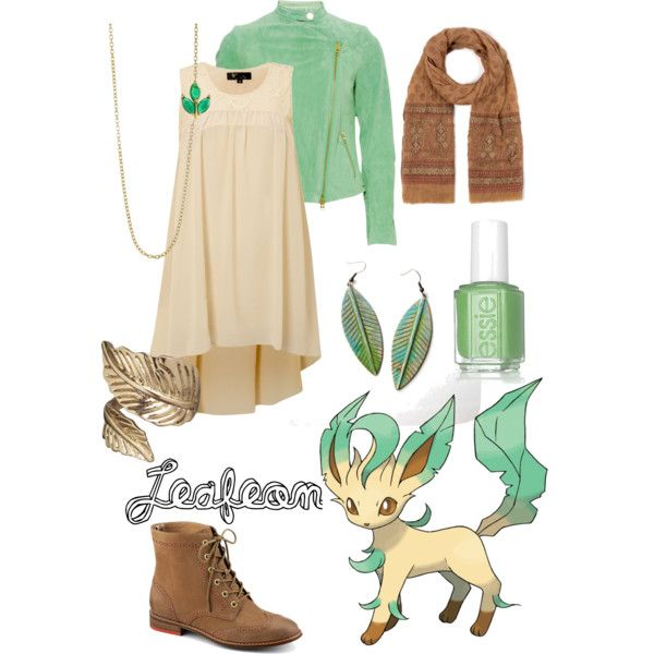 """""""Pokemon Outfits: Leafeon"""" by jas67angel on Polyvore"""