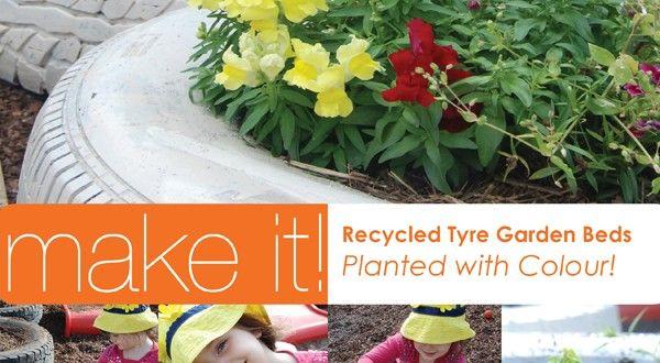 Repurposed Car Flower Tyre Garden | About The Garden Magazine