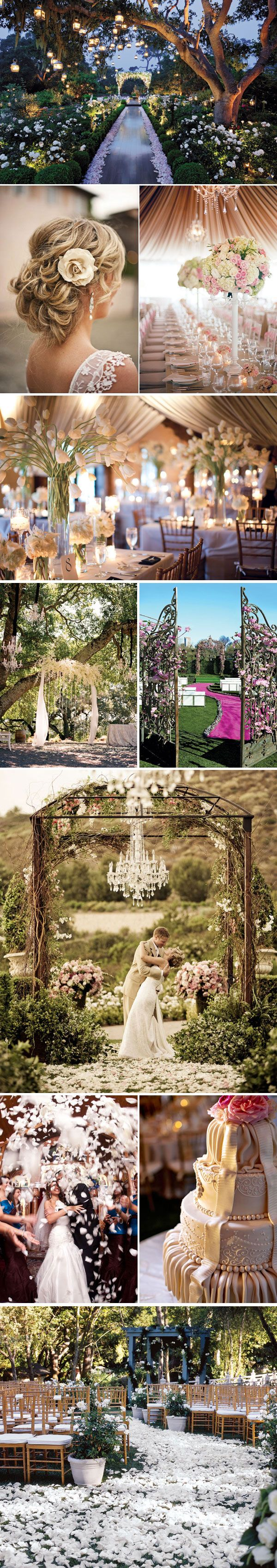 LOVE the outdoor chandelier! Wedding Trends - Wedding Style Inspiration Boards | Wedding Planning, Ideas & Etiquette | Bridal Guide Magazine