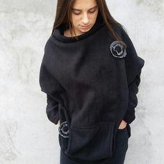 Cape *poncho*polaire noire*taille unique du 40 au 46