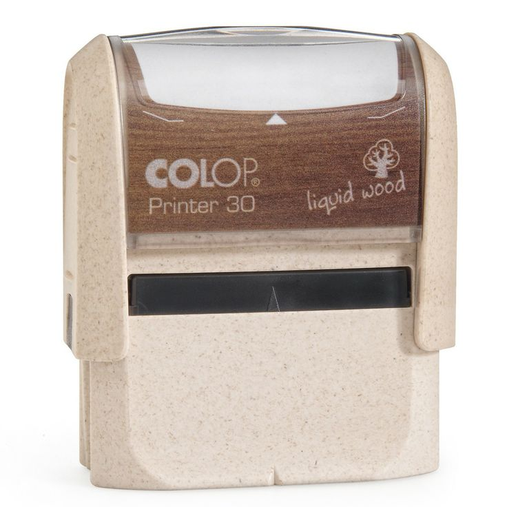 Colop Printer 30 Liquid Wood. Milieuvriendelijke tekststempel.