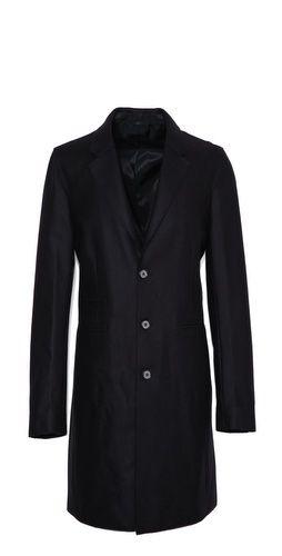 Vince Raw Edge Detail Wool Coat