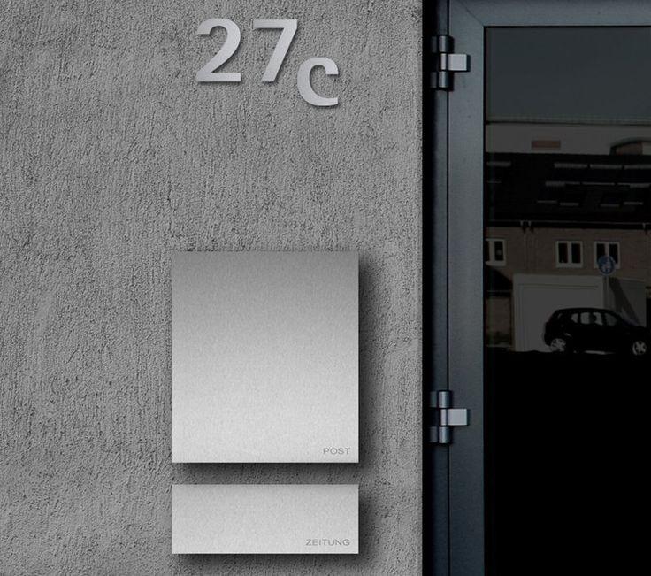 Caixas de correio em inox com design moderno - perfeitas para casas contemporâneas! - DecorSalteado